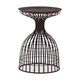 Zuo Modern Pure Spike Side Table in Rustic Black 404220