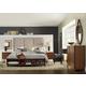 Hooker Furniture Studio 7H Aon Upholstered Panel Bedroom Set w/ Bookcase Footboard in Walnut
