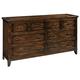 Hekman Harbor Springs 6 Drawer Dresser in Rustic Hardwood 941501RH