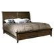 Hekman Harbor Springs Queen Sleigh Bed in Rustic Hardwood 941506-508RH