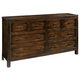Hekman Harbor Springs 6 Drawer Dresser in Rustic Hardwood 941517RH