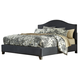Kasidon Queen Upholstered Panel Bed in Dark Gray