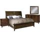 Hekman Harbor Springs 4 Piece Sleigh Bedroom Set in Rustic Hardwood