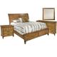 Hekman Harbor Springs 4 Piece Sleigh Bedroom Set in Rustic Light