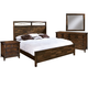 Hekman Harbor Springs 4 Piece Panel Bedroom Set in Rustic Hardwood