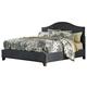 Kasidon California King Upholstered Panel Bed in Dark Gray