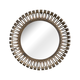 Zuo Modern Pure Drum Mirror Rusted in metal frame 850115