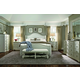 A.R.T. Chateaux 4 Piece Upholstered Shelter Bed in Grey