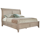 Hekman Sutton's Bay Queen Sleigh Bed in Driftwood 1-4168