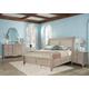 Hekman Sutton's Bay 4 Piece Sleigh Bedroom Set in Driftwood