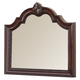 Crown Mark Furniture Sheffield Dresser Mirror in Dark Cherry B1100-11