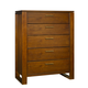 Ligna Aspen 5 Drawer Chest in Honey 8624HN