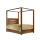 Ligna Aspen Queen Lodge Canopy Bed in Honey 8607CAHN