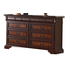 Crown Mark Furniture Neo Renaissance Dresser in Dark Walnut B1470-1