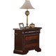 Crown Mark Furniture Neo Renaissance Nightstand in Dark Walnut B1470-2