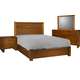 Ligna Aspen 4 Piece Lodge Panel Bedroom Set in Honey