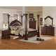 Crown Mark Furniture Neo Renaissance Poster Bedroom Set in Dark Walnut