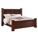 Crown Mark Furniture Norman King Bed in Warm Cherry