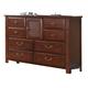 Crown Mark Furniture Norman Door Dresser in Warm Cherry B1600-1
