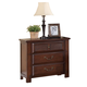 Crown Mark Furniture Norman Nightstand in Warm Cherry B1600-2