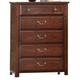 Crown Mark Furniture Norman Drawer Chest in Warm Cherry B1600-4