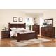 Crown Mark Furniture Norman Bedroom Set in Warm Cherry