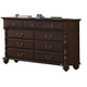 Crown Mark Furniture Georgia Dresser in Dark Pecan B1500-1
