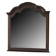 Crown Mark Furniture Georgia Dresser Mirror in Dark Pecan B1500-11