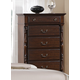 Crown Mark Furniture Georgia Drawer Chest in Dark Pecan B1500-4