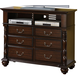 Crown Mark Furniture Georgia Media Chest in Dark Pecan B1500-7
