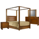 Ligna Aspen 4 Piece Lodge Canopy Bedroom Set in Honey
