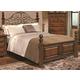 Crown Mark Furniture Highland Scroll King Bed in Walnut