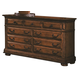 Crown Mark Furniture Highland Dresser in Walnut B9800-1