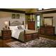 Crown Mark Furniture Highland Scroll Bedroom Set in Walnut