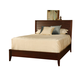 Ligna Canali Queen Louvered Low Profile Bed in Mocha 6837MOC