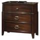 Crown Mark Furniture Alma Nightstand in Warm Brown B6600-2