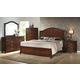 Crown Mark Furniture Alma Bedroom Set in Warm Brown