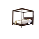 Ligna Canali King Poster Canopy Bed in Mocha 6808MOC CLEARANCE