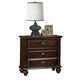 Crown Mark Furniture Portsmouth Nightstand in Rich Cherry B6075-2