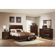 Crown Mark Furniture Portsmouth Storage Bedroom Set in Rich Cherry