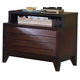 Ligna Canali 2 Drawer NIghtstand in Mocha 6822MOC