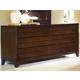 Ligna Canali 6 Drawer Dresser in Mocha 6826MOC