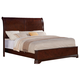 Crown Mark Furniture Samantha Queen Bed in Warm Cherry