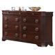 Crown Mark Furniture Samantha Dresser in Warm Cherry B8460-1