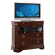 Crown Mark Furniture Samantha Media Chest in Warm Cherry B8460-7