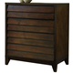 Ligna Canali 4 Drawer Entertainment Console Chest in Mocha 6824MOC