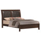 Crown Mark Furniture Emily King Bed in Rich Cherry