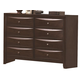 Crown Mark Furniture Emily Dresser in Rich Cherry B4201