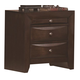 Crown Mark Furniture Emily Nightstand in Rich Cherry B4202
