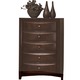 Crown Mark Furniture Emily Drawer Chest in Rich Cherry B4204